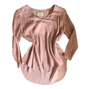 Current / Elliot Womens Top Long Sleeve Pink 1
